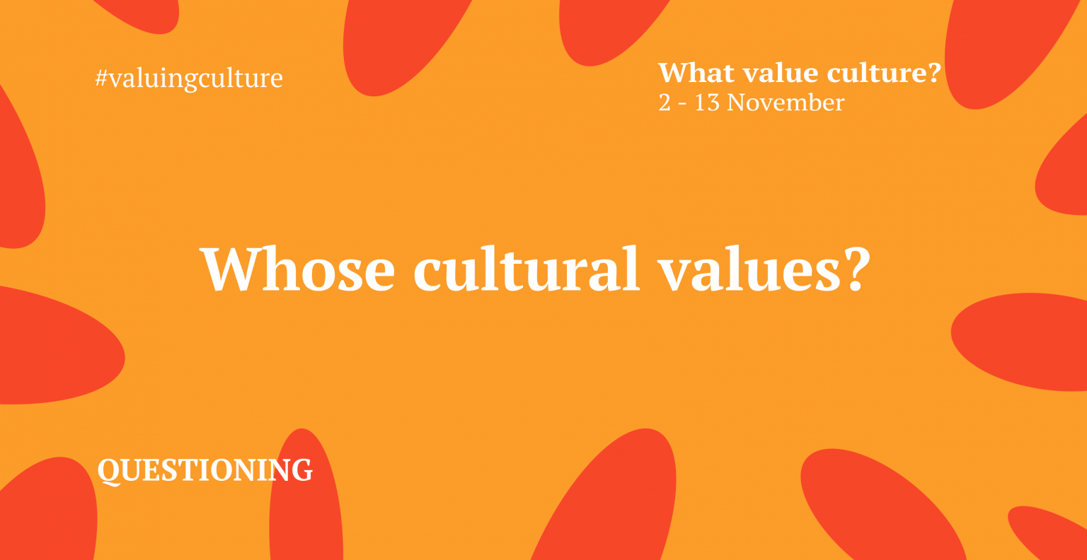 What Value Culture - Festival of Ideas