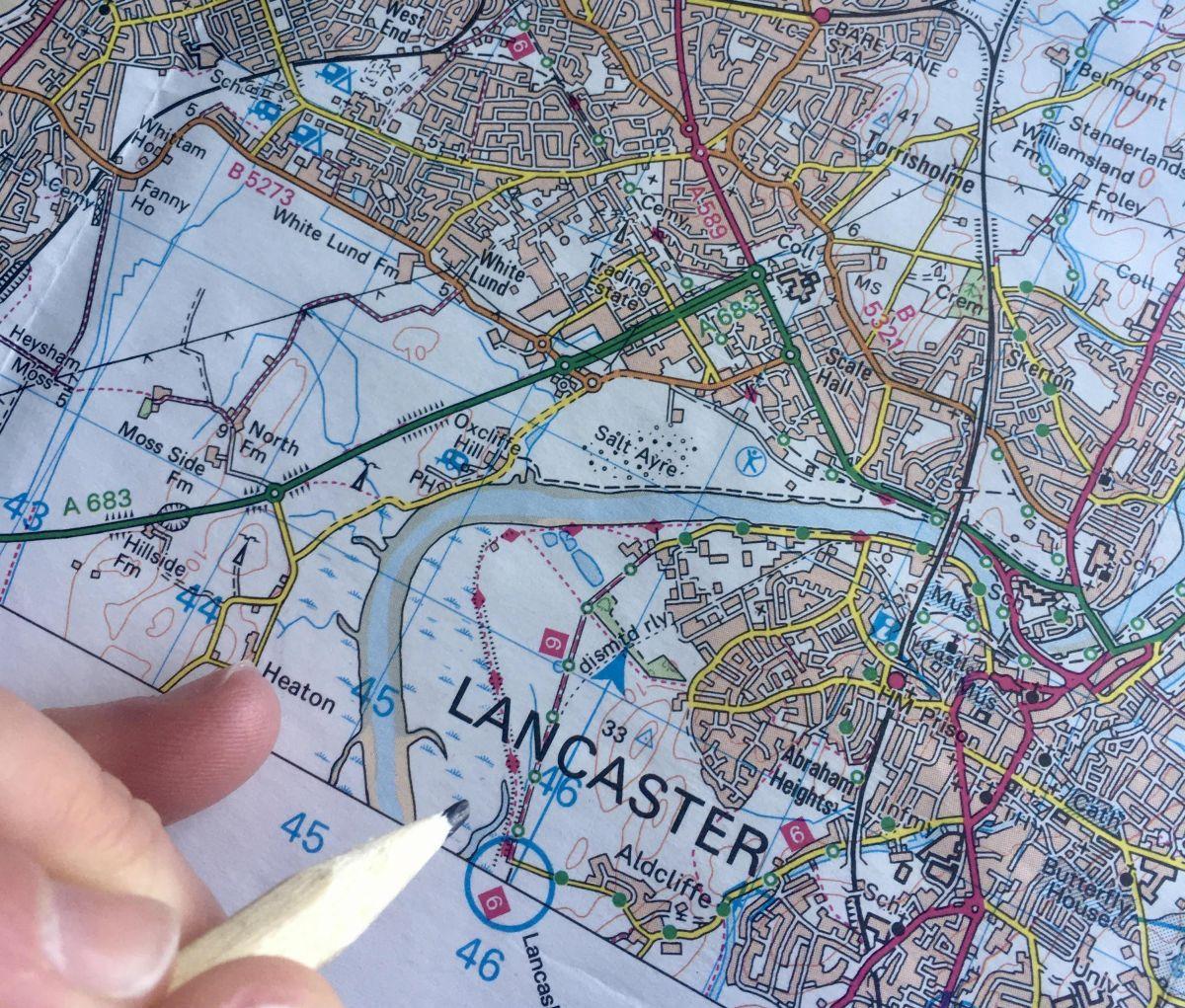 Lockdown in Lancaster and Morecambe: Walk, Run, Pedal, Push, Map