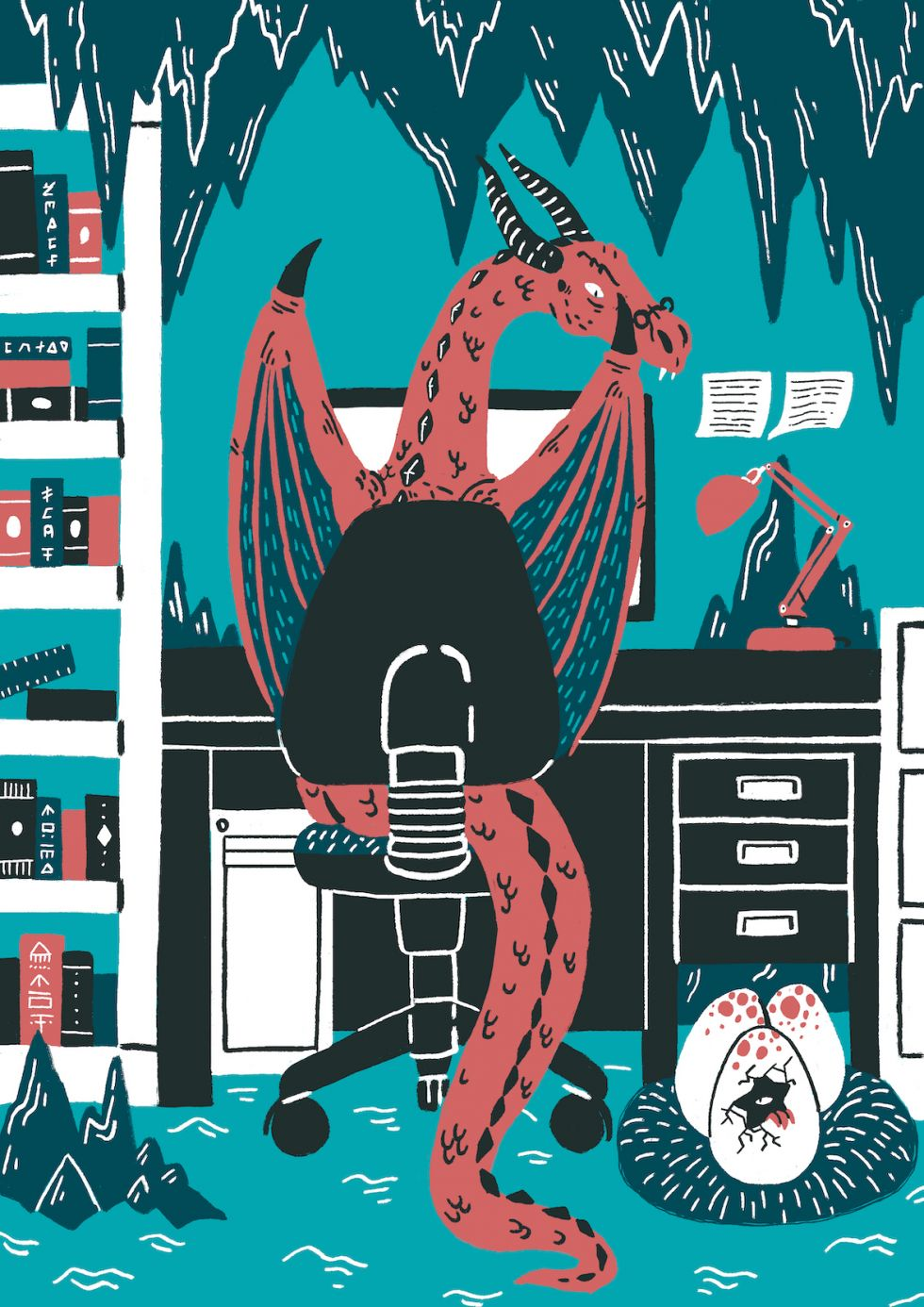 Working Dragon Illustration by Daniel Nelson