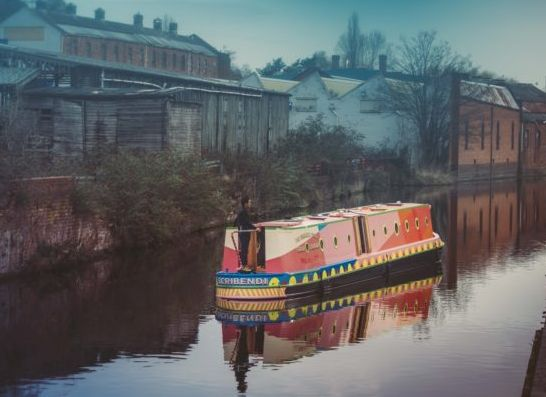 Small Bells Ring launches a floating short-story library on the Leeds Liverpool Canal.