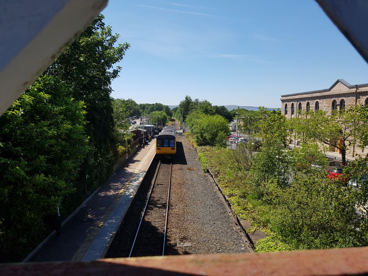 East Lancs Artist Duo work on Brierfield Railway Regeneration Project