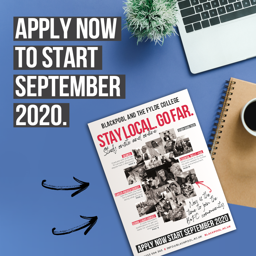 Blackpool & The Fylde College still accepting applications for Sept 2020