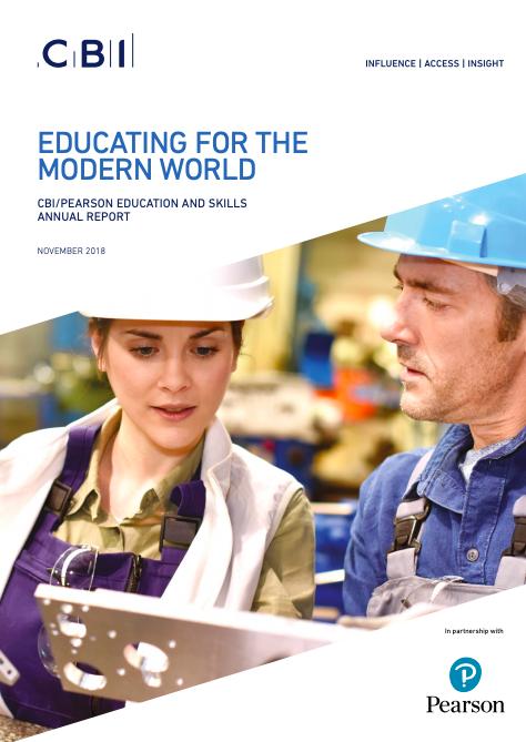 CBI/Pearson - Educating for the Modern World 2018 (Creative/Skills)